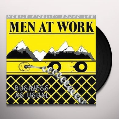 Men At Work BUSINESS AS USUAL Vinyl Record
