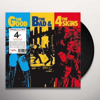 GOOD THE BAD & THE 4 SKINS Vinyl Record - Italy Release