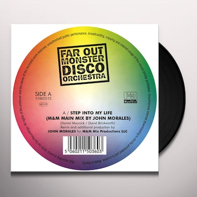Far Out Monster Disco Orch STEP INTO MY LIFE / THE TWO OF US Vinyl Record