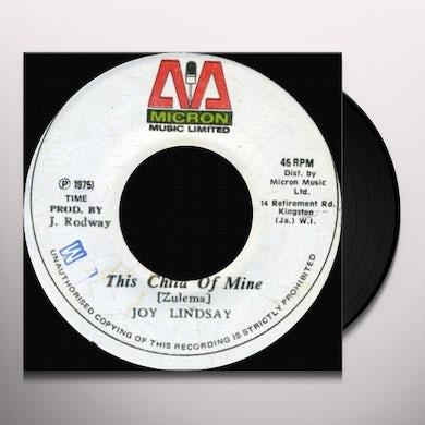 Joy Lindsay THIS CHILD OF MINE Vinyl Record
