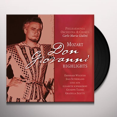 W.A. Mozart DON GIOVANNI HIGHLIGHTS Vinyl Record