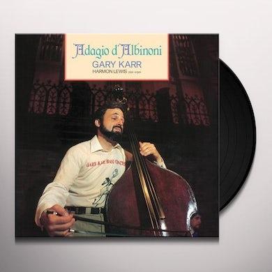 Gary Karr ADAGIO DALBINONI Vinyl Record