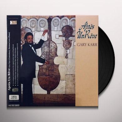 Gary Karr APRES UN REVE Vinyl Record