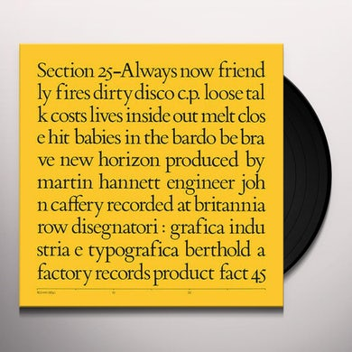 Section 25 ALWAYS NOW Vinyl Record