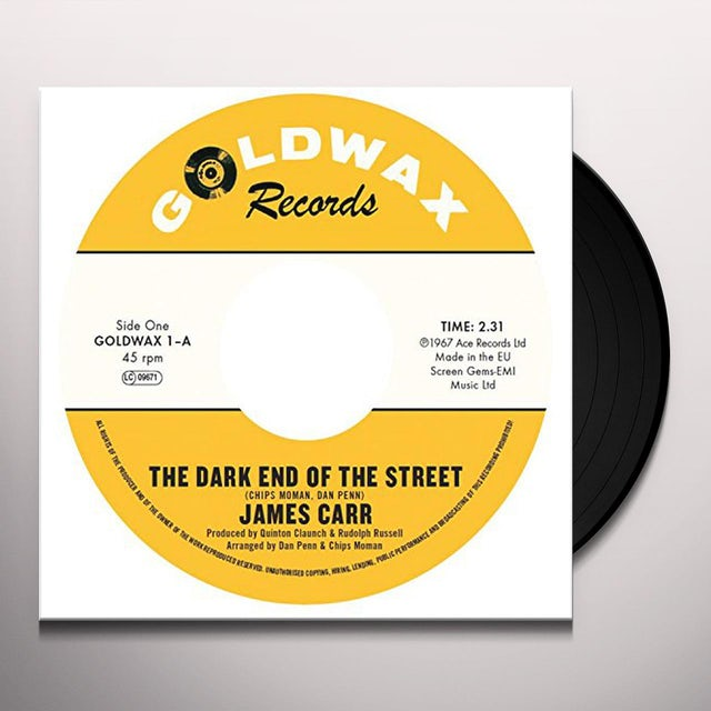 James Carr DARK END OF THE STREET / YOU'VE GOT MY MIND MESSED Vinyl Record