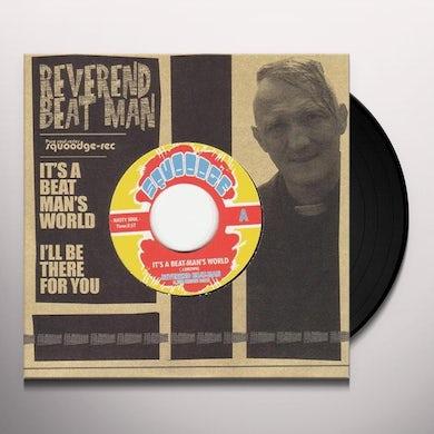 Reverend Beat-Man IT'S A BEAT-MAN'S WORLD Vinyl Record
