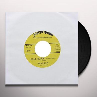 Len & The P.A.'s SOUL BLOCK Vinyl Record