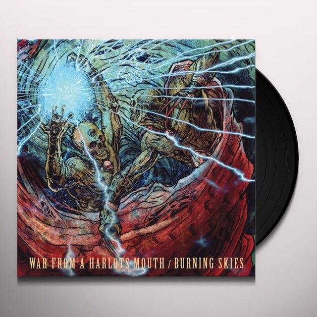 War From A Harlots Mouth / Burning Skies SPLIT Vinyl Record