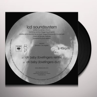 LCD Soundsystem OH BABY (LOVEFINGERS REMIXES) Vinyl Record