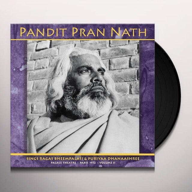 Pandit Pran Nath RAGE CYCLE PALACE THEATRE PARIS 1972 VOL. 2 Vinyl Record