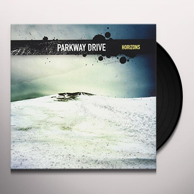 Parkway Drive HORIZONS (TRANSPARENT YELLOW WITH BLUE SPLATTER) Vinyl Record