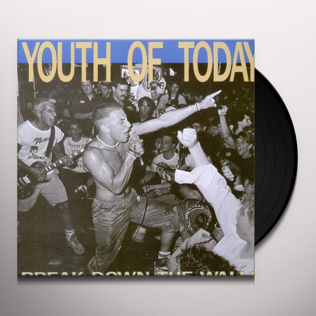 Youth of Today BREAK DOWN THE WALLS Vinyl Record