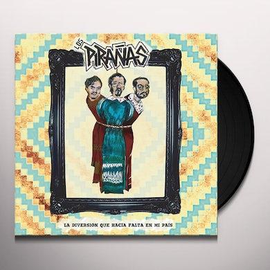 Los Piranas LA DIVERSION QUE HACIA FALTA EN MI PAIS Vinyl Record