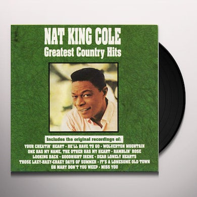 Nat King Cole Greatest Country Hits Vinyl Record