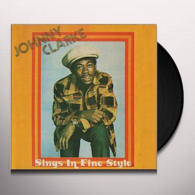 Johnny Clarke SINGS IN FINE STYLE Vinyl Record