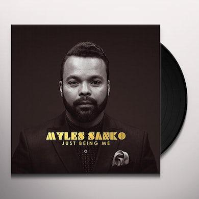 Myles Sanko JUST BEING ME Vinyl Record
