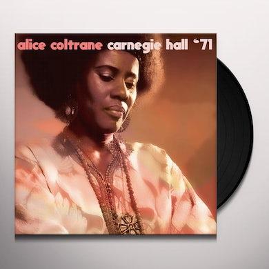 Alice Coltrane CARNEGIE HALL 71 Vinyl Record