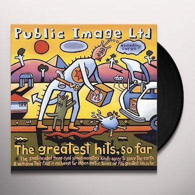 Public Image Ltd GREATEST HITS SO FAR Vinyl Record