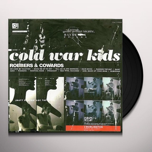 Cold War Kids ROBBERS & COWARDS Vinyl Record