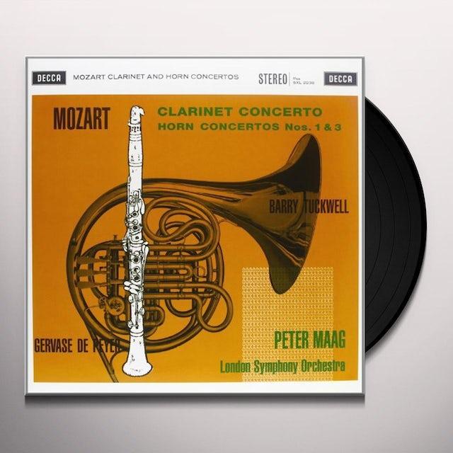 Mozart / Maag CLARINET CONCERTO Vinyl Record