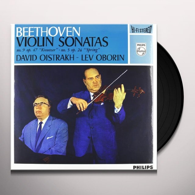 Beethoven / Oborin / Oistrach SONATAS FOR PIANO & VIOLIN 5 & 9 Vinyl Record