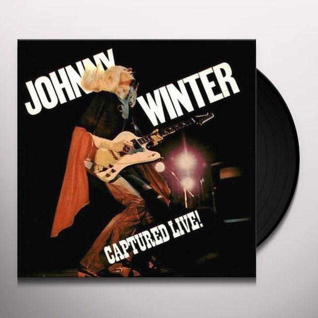 Johnny Winter CAPTURED LIVE Vinyl Record