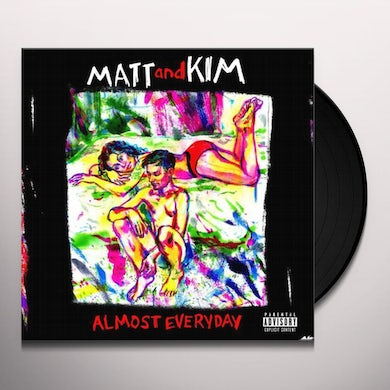 Matt & Kim ALMOST EVERYDAY - Limited Edition Red Colored Vinyl Record