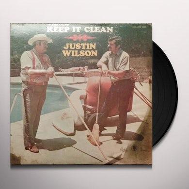Justin Wilson KEEP IT CLEAN Vinyl Record