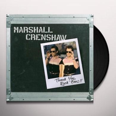 Marshall Crenshaw THANK YOU ROCK FANS Vinyl Record