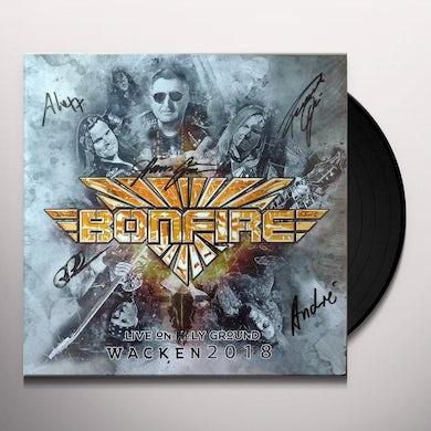 Bonfire LIVE ON HOLY GROUND Vinyl Record