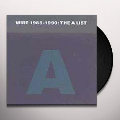 WIRE 1985-1990: THE A LIST CD (Vinyl)