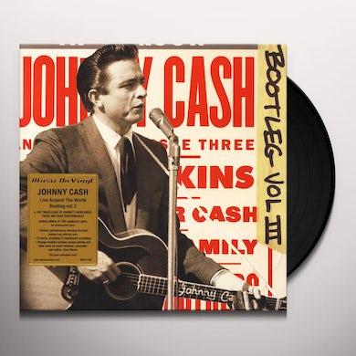 Johnny Cash BOOTLEG 3: LIVE AROUND THE WORLD Vinyl Record