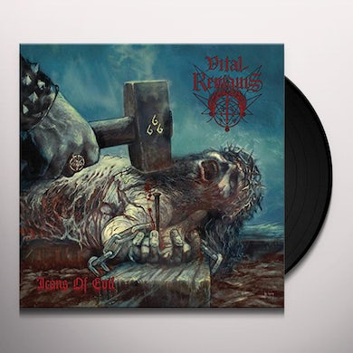 Vital Remains ICONS OF EVIL (GREY BLUE VINYL) Vinyl Record