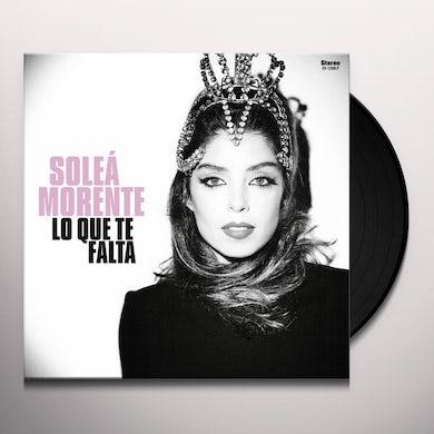 Solea Morente LO QUE TE FALTA Vinyl Record