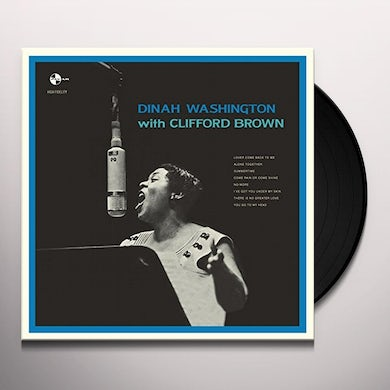 Dinah Washington WITH CLIFFORD BROWN Vinyl Record