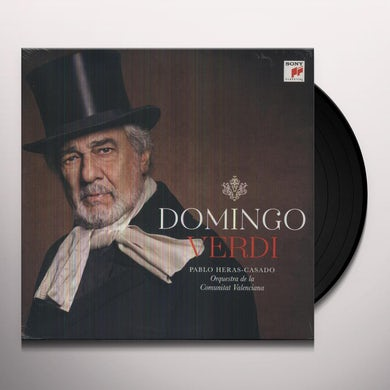 Placido Domingo VERDI Vinyl Record