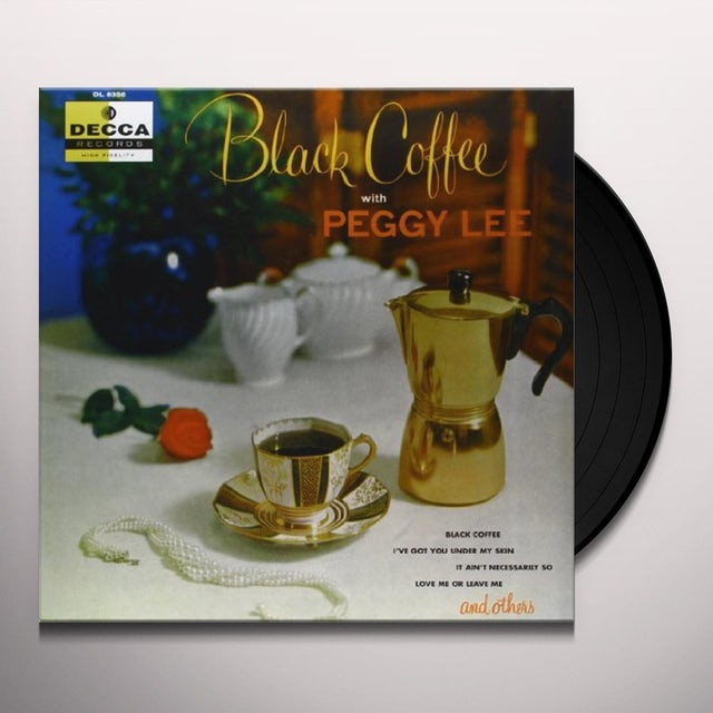 Peggy Lee BLACK COFFEE Vinyl Record - 180 Gram Pressing