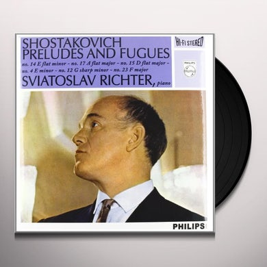 Sviatoslav Richter SHOSTAKOVICH: 6 PRELUDES & FUGUES FROM OP. 87 Vinyl Record