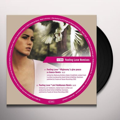 Gamat 3000 FEELING LOVE REMIXES Vinyl Record