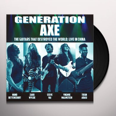 Steve Vai Generation Axe: Guitars That Destroyed That World- Live In China Vinyl Record