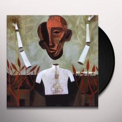 Hot Water Music FLIGHT & A CRASH (TRANS CLR W RED) Vinyl Record