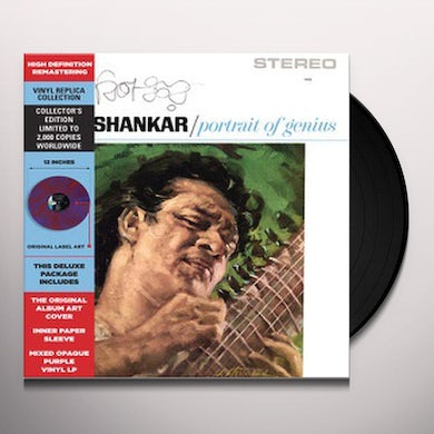 Ravi Shankar PORTRAIT OF GENIUS Vinyl Record