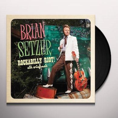 Brian Setzer ROCKABILLY RIOT ALL ORIGINAL Vinyl Record - Digital Download Included