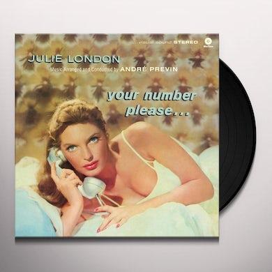 Julie London YOUR NUMBER PLEASE Vinyl Record - Spain Release