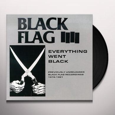 Black Flag EVERYTHING WENT BLACK Vinyl Record