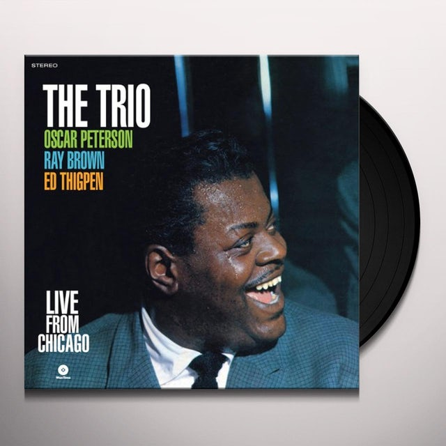 Oscar Peterson LIVE FROM CHICAGO Vinyl Record - Spain Release