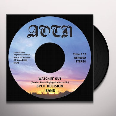 SPLIT DECISION BAND WATCHIN' OUT Vinyl Record
