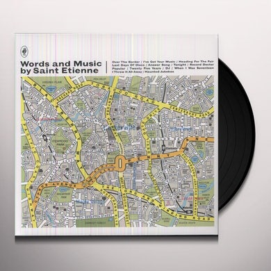 WORDS & MUSIC BY SAINT ETIENNE Vinyl Record - Portugal Release