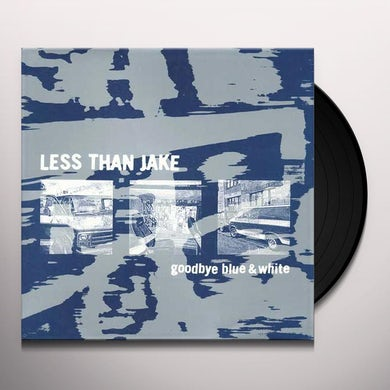Less Than Jake GOODBYE BLUE & WHITE Vinyl Record