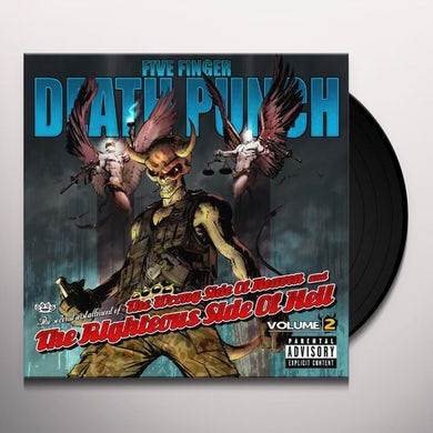 Five Finger Death Punch WRONG SIDE OF HEAVEN & RIGHTEOUS SIDE OF HELL 2 Vinyl Record